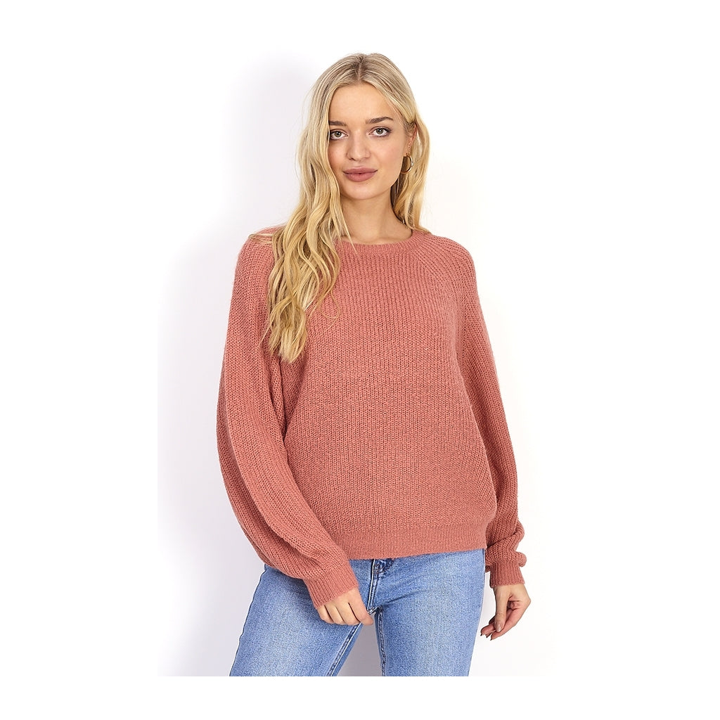Image of   Balloon sleeve Knit - Rose - XL