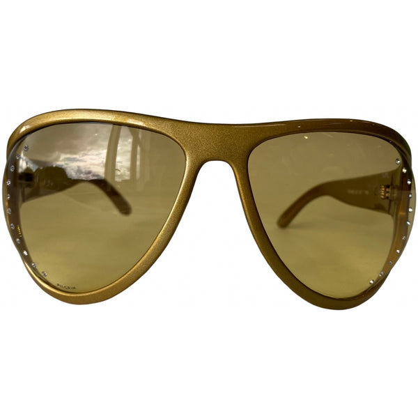 Tex-Time Barito Design Of Copenhagen Dame Solbrille Sunglasses Pilgrim 702-400 Gold