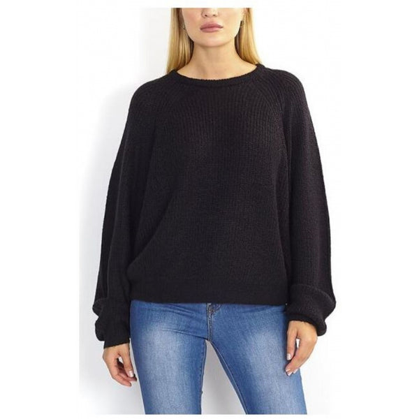 MARTA DU CHATEAU Brave Soul Balloon sleeve Knit Knit Black