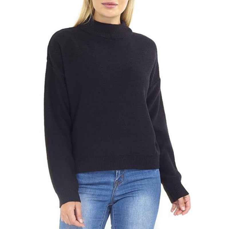 MARTA DU CHATEAU Brave Soul Ribbed High Neck Knit Knit Black