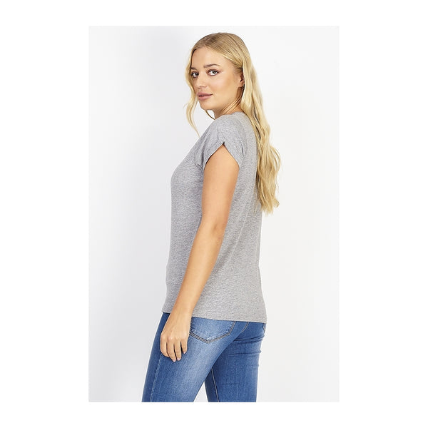 Tex-Time Brave soul dame tee Eleano T-shirt Grey