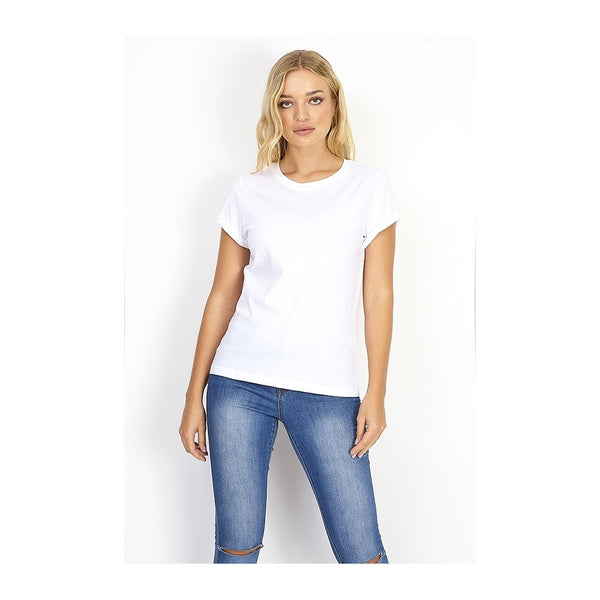 Tex-Time Brave soul dame tee Eleano T-shirt White