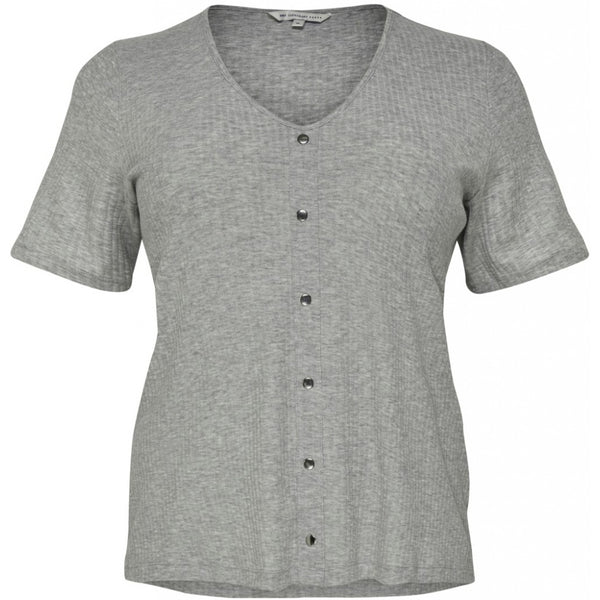 ONLY Carmakoma CARMAKOMA Diona SS T-shirt PLUSSIZE Top Grey
