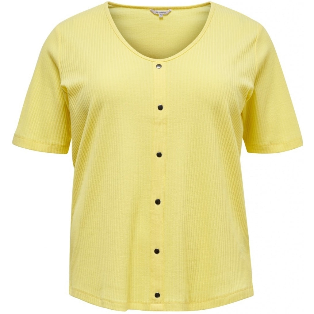 Image of   CARMAKOMA Diona SS T-shirt PLUSSIZE - Yellow - XL (54)