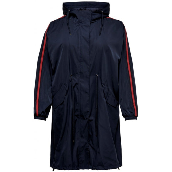 ONLY Carmakoma CARMAKOMA Evelyn Spring Coat Jacket Navy