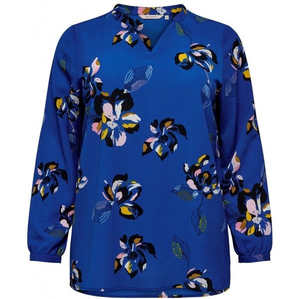 ONLY Carmakoma CARMAKOMA Lux Cecilia Top. LS Shirt Blue