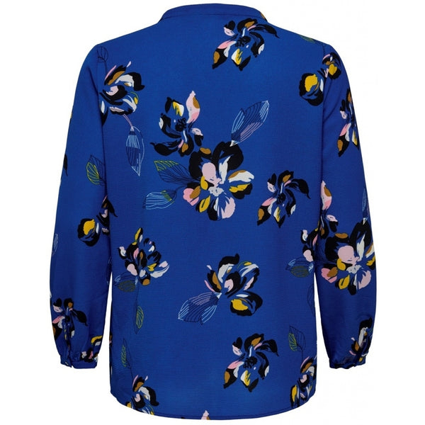 ONLY Carmakoma CARMAKOMA Lux Cecilia Top PLUSSIZE LS Shirt Blue Flowers