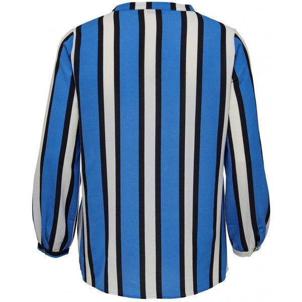 ONLY Carmakoma CARMAKOMA Lux Cecilia Top PLUSSIZE LS Shirt Blue stripe