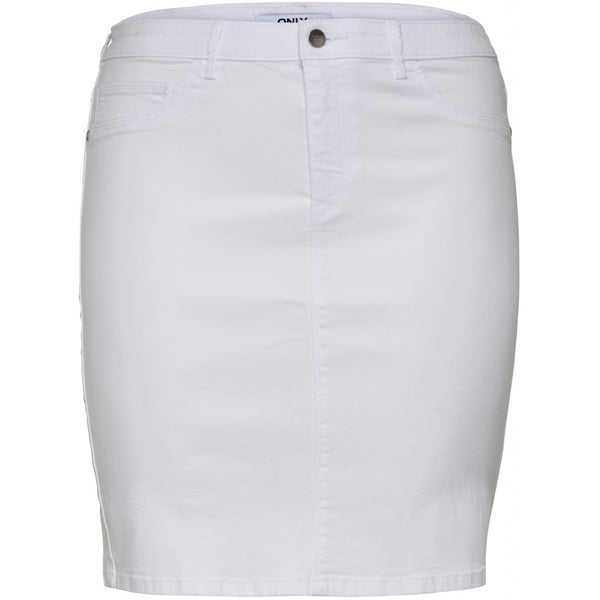 ONLY Carmakoma CARMAKOMA Thunder Pencil Skirt PLUSSIZE Skirt White