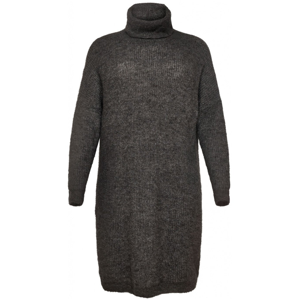 Image of   CARMIRNA LS ROLLNECK DRESS KNT - Dark Grey - L (50-52)