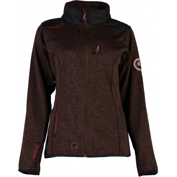 Geographical Norway Canadian Peak Dame Fleece Jakke Tina Fleece D. Brown