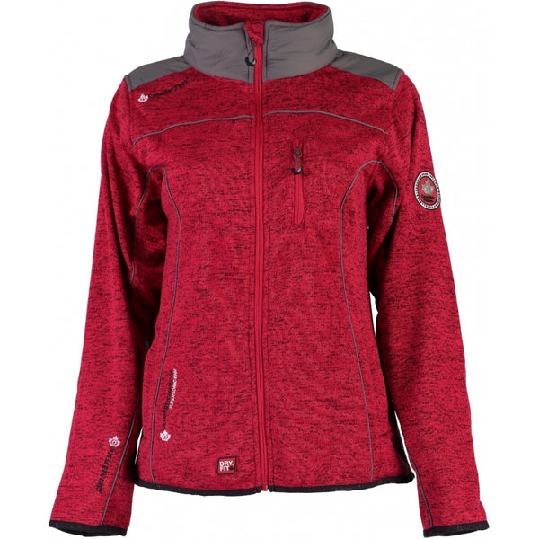 Geographical Norway Canadian Peak Dame Fleece Jakke Tina Fleece Red
