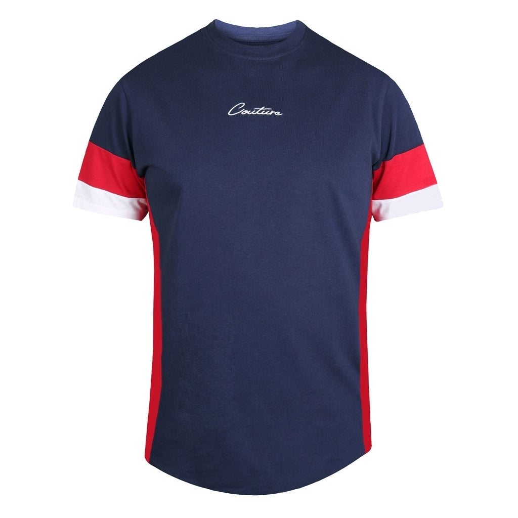 Image of   D555 Herre Tee Baker - Navy - XL