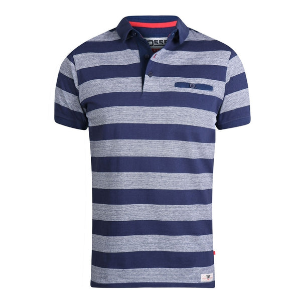 Duke Clothing D555 Herre polo Holt Plussize Herre Navy