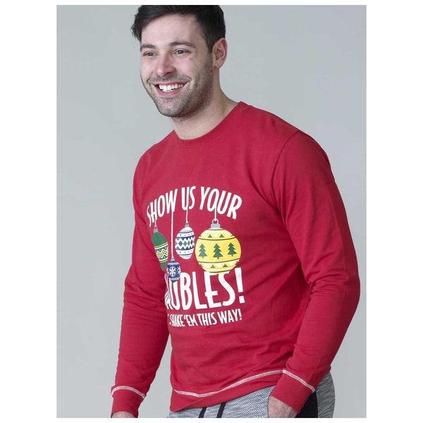 Duke Clothing D555 Herre sweatshirt baubles Sweatshirt Red