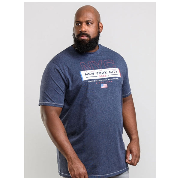 Duke Clothing D555 herre tee warren plus T-shirt Navy