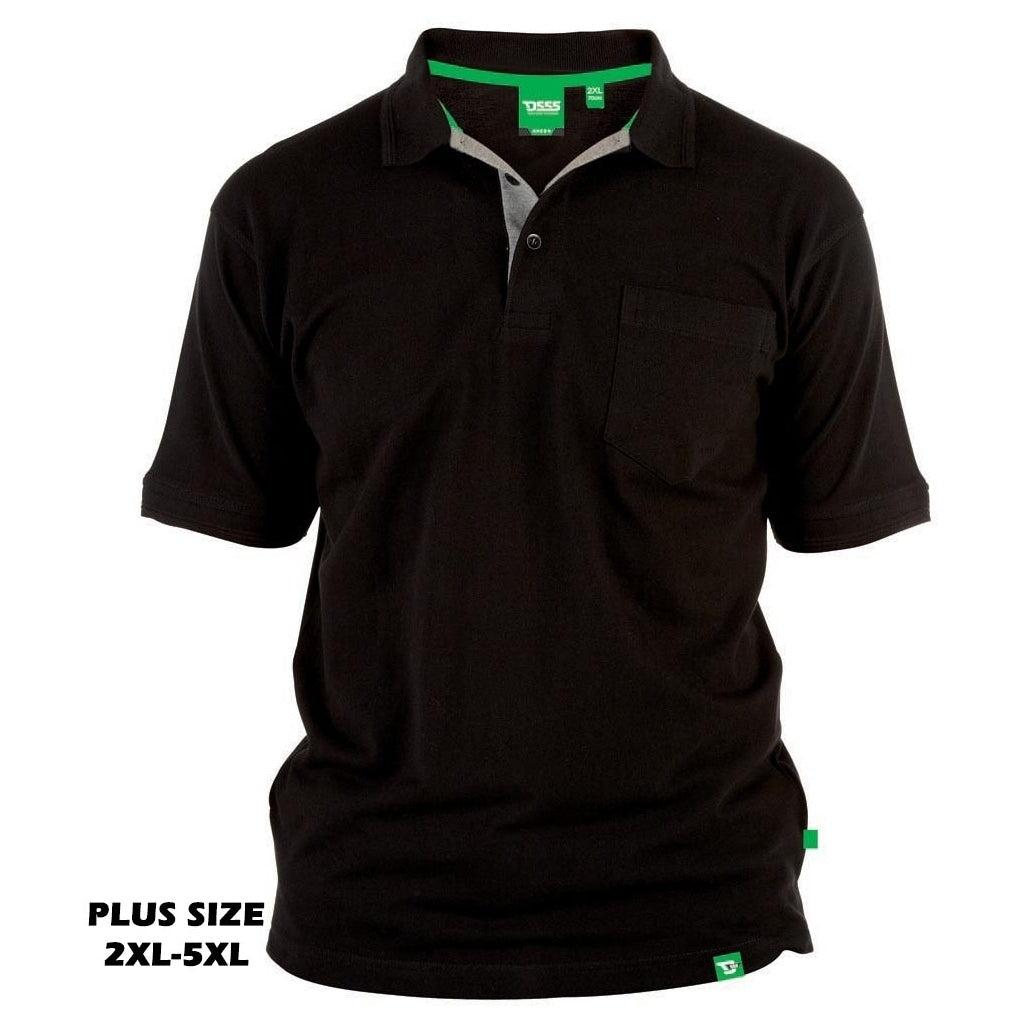 Image of   DUKE D555 POLO Herre GRANT PLUS - Black - 3XL