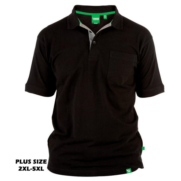 Duke Clothing DUKE D555 POLO Herre GRANT PLUS Polo Black