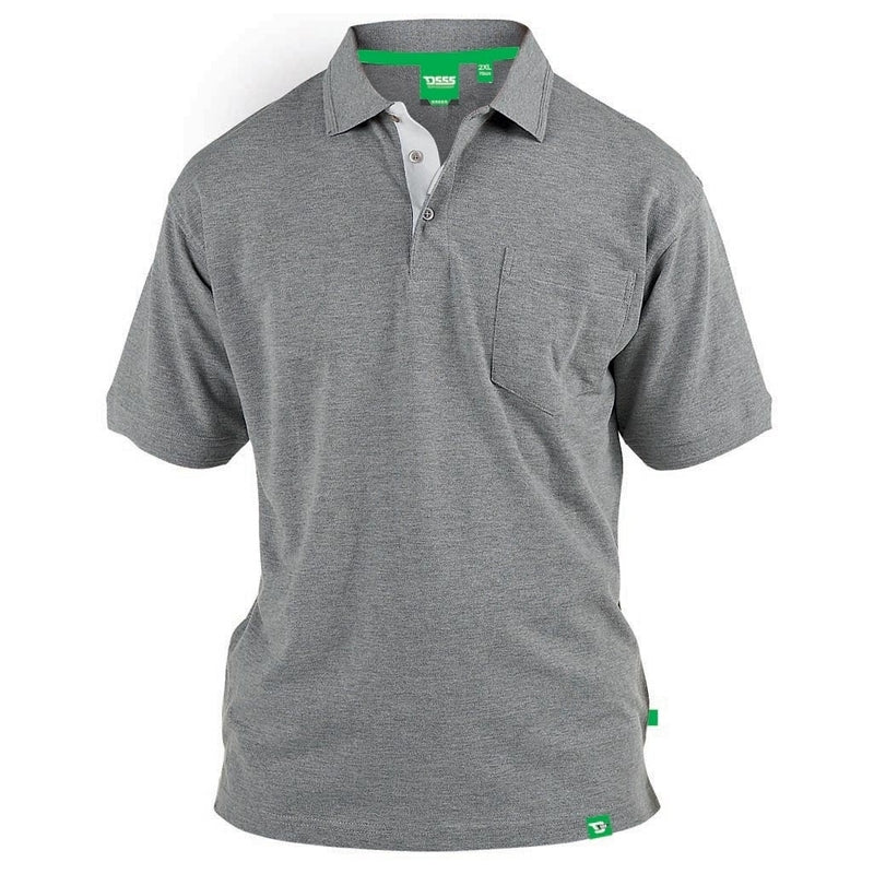 Duke Clothing DUKE D555 POLO Herre GRANT PLUS Polo Grey