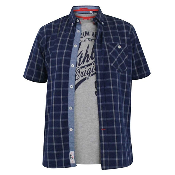 Duke Clothing DUKE D555 Skjorte med t-shirt Herre LIBERTY Shirt & Tee Navy
