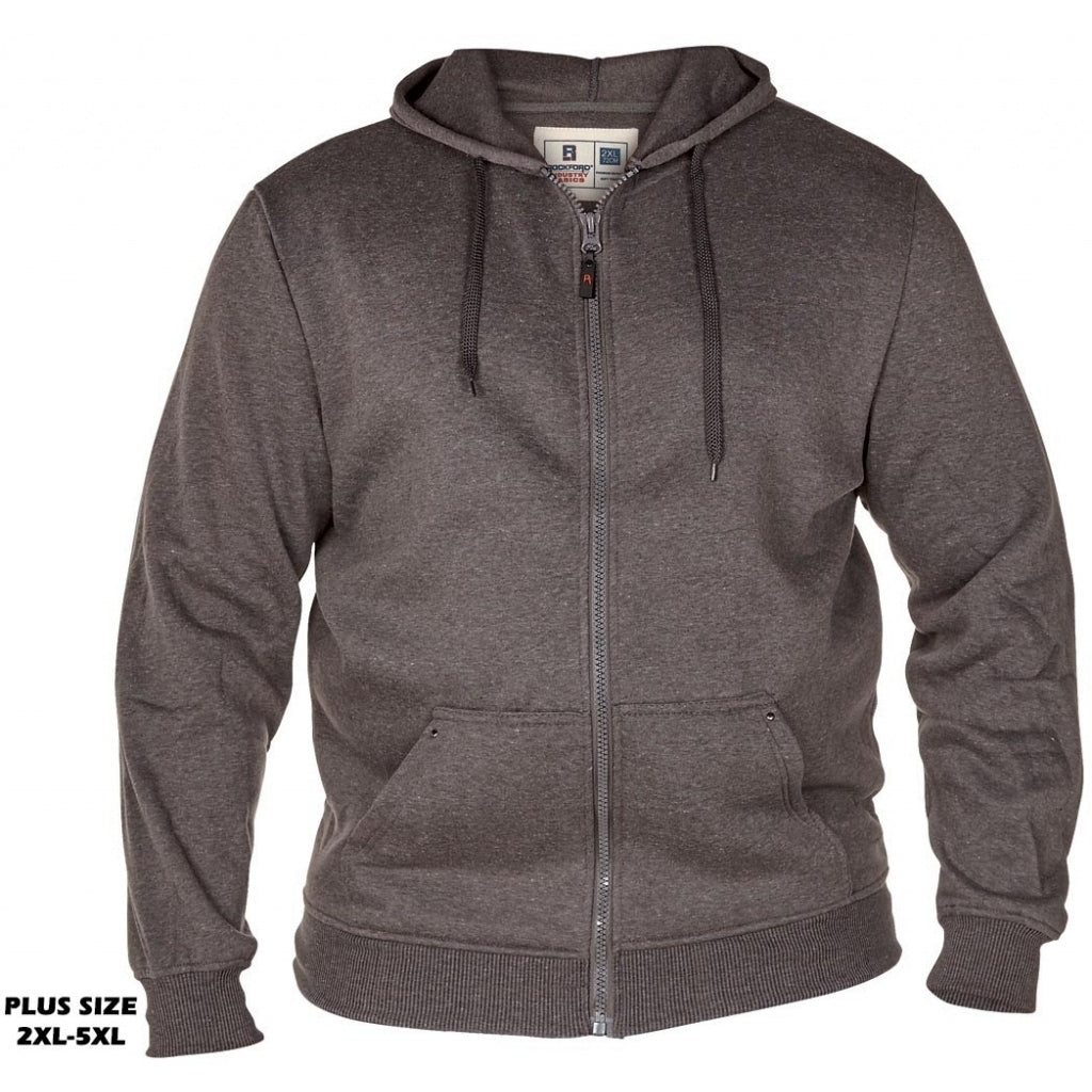 Image of   DUKE D555 Sweatshirt med lynlås Herre CANTOR PLUS - Grey - 1XL