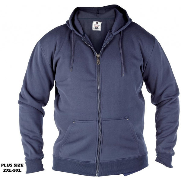 Duke Clothing DUKE D555 Sweatshirt med lynlås Herre CANTOR  PLUS Cardigan Navy