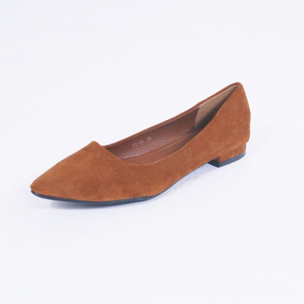 Tex-Time Dame Ballerina Shoes Camel