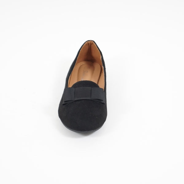 Tex-Time Dame Ballerina Med Sløjle Shoes Black