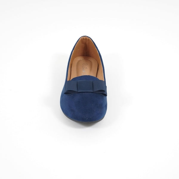 Tex-Time Dame Ballerina Med Sløjle Shoes Blue