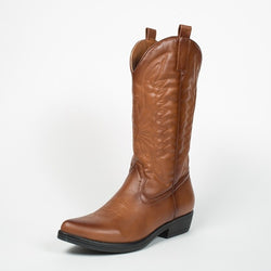 Tex-Time Dame Cowboy Støvle Lang Shoes Camel