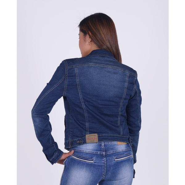 Place Du Jour Dame Denim Jakke Jeans Denim