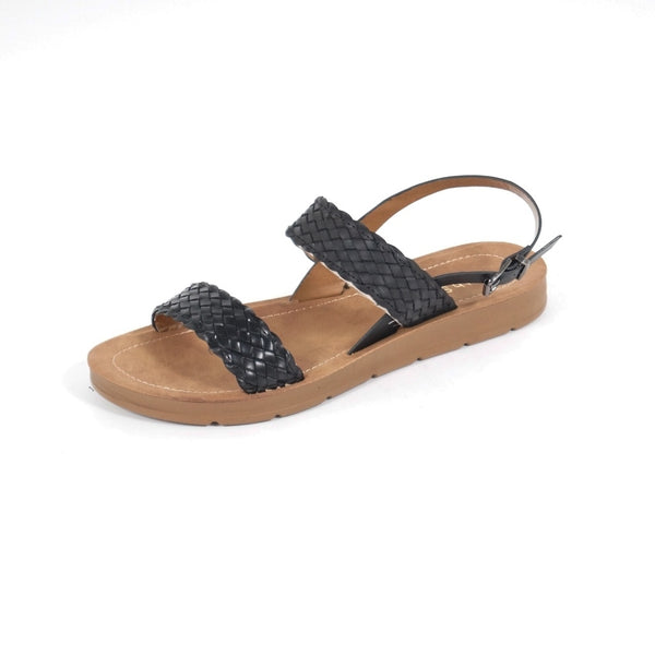 Tex-Time Dame Sandal Flet Shoes Black