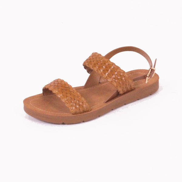 Tex-Time Dame Sandal Flet Shoes Camel