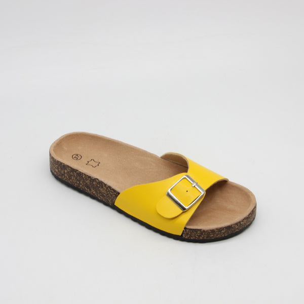 Tex-Time Dame Sandal Spænde Ideal Shoes Restudsalg Yellow
