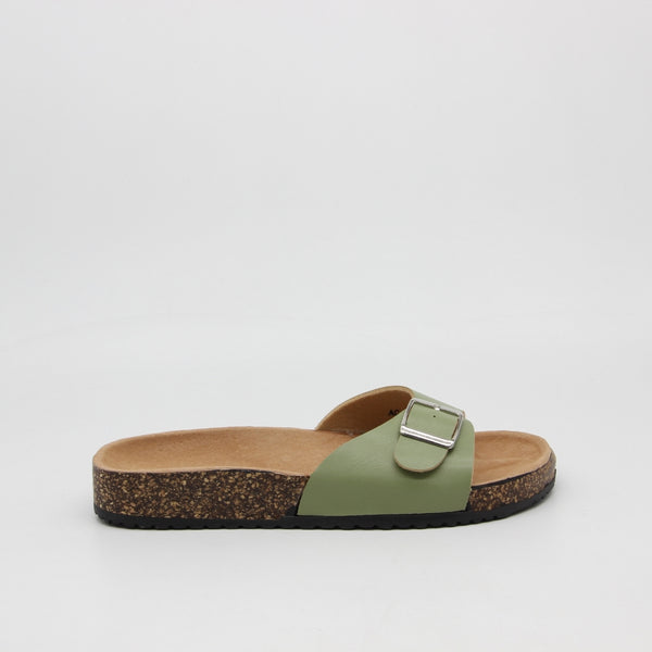 Tex-Time Dame Sandal Spænde Ideal Shoes Shoes Green
