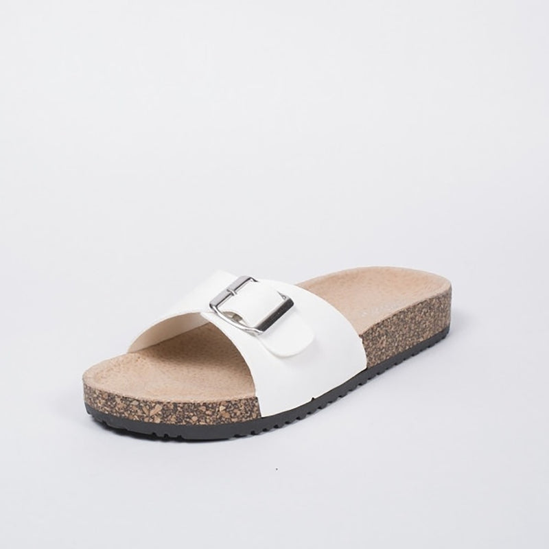 Tex-Time Dame Sandal Spænde Ideal Shoes Shoes White
