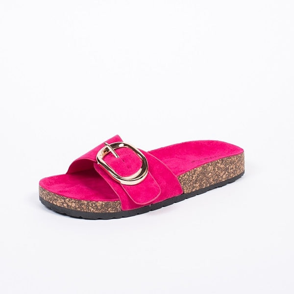 Tex-Time Dame Slippers Med Spænde Ideal Shoes Shoes Fushia