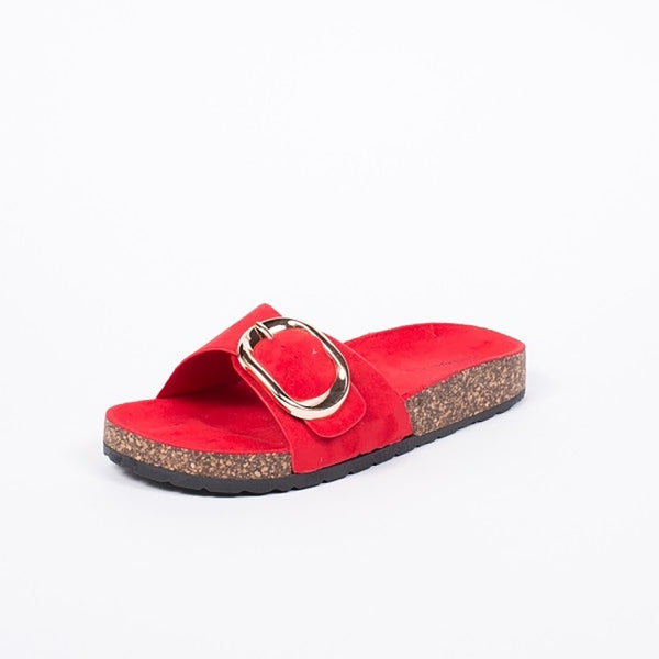 Tex-Time Dame Slippers Med Spænde Ideal Shoes Shoes Red
