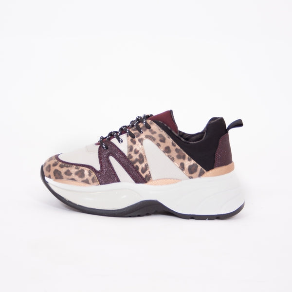 Tex-Time Dame Sneakers Shoes Wine