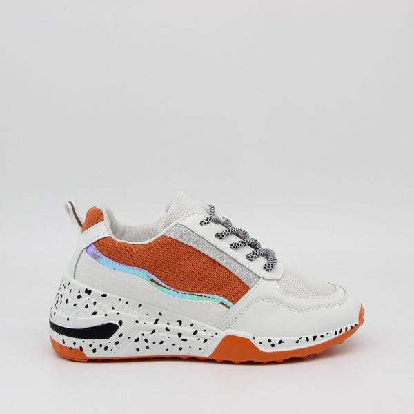 Shoes Dame Sneakers 3151 Shoes Orange