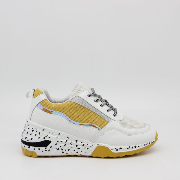 Shoes Dame Sneakers 3151 Shoes Yellow