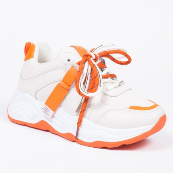 Shoes Dame Sneakers 3160 Shoes Orange
