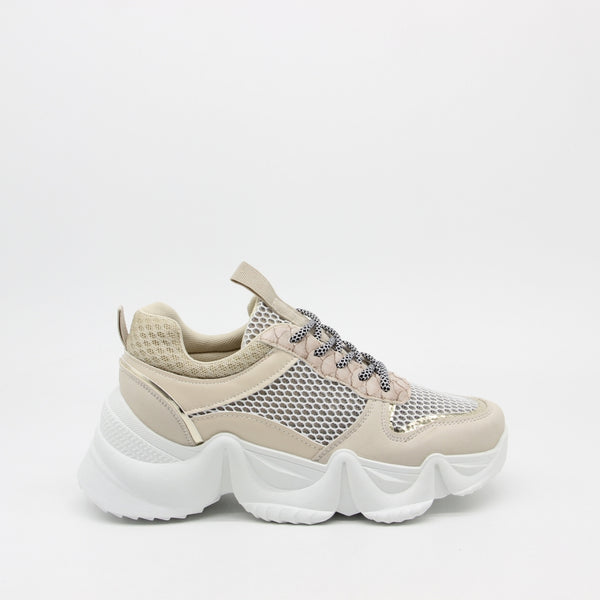 Shoes Dame Sneakers 3165 Shoes Beige