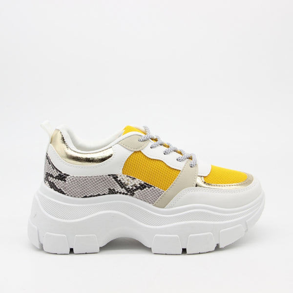 Shoes Dame Sneakers 3179 Shoes Yellow