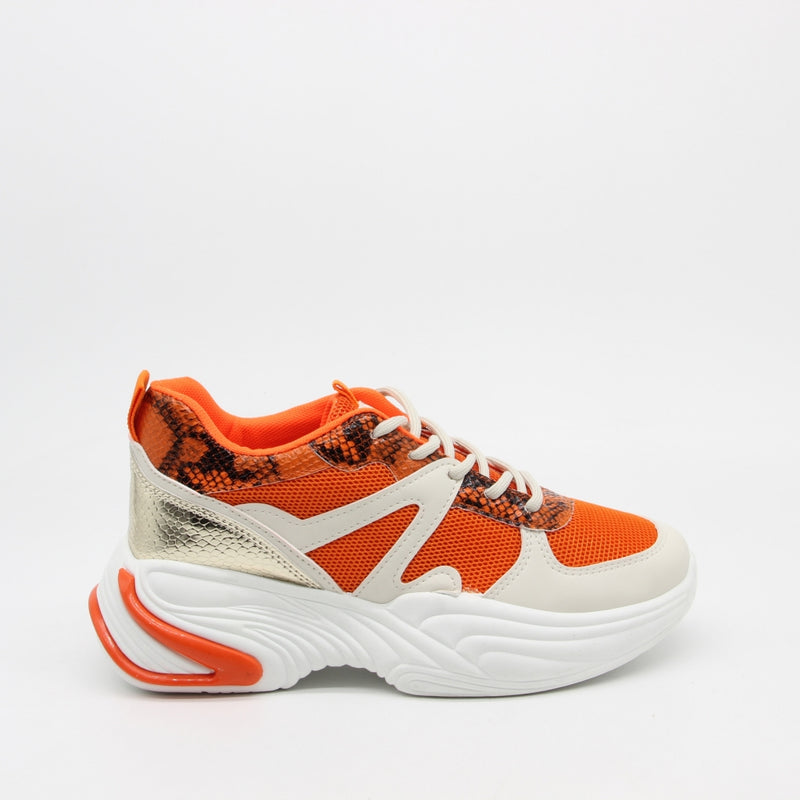 Shoes Dame Sneakers 3181 Shoes Orange