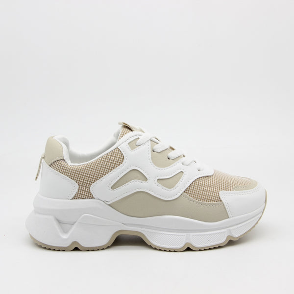 Shoes Dame Sneakers 3182 Shoes Beige