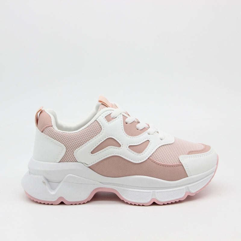 Shoes Dame Sneakers 3182 Shoes Pink