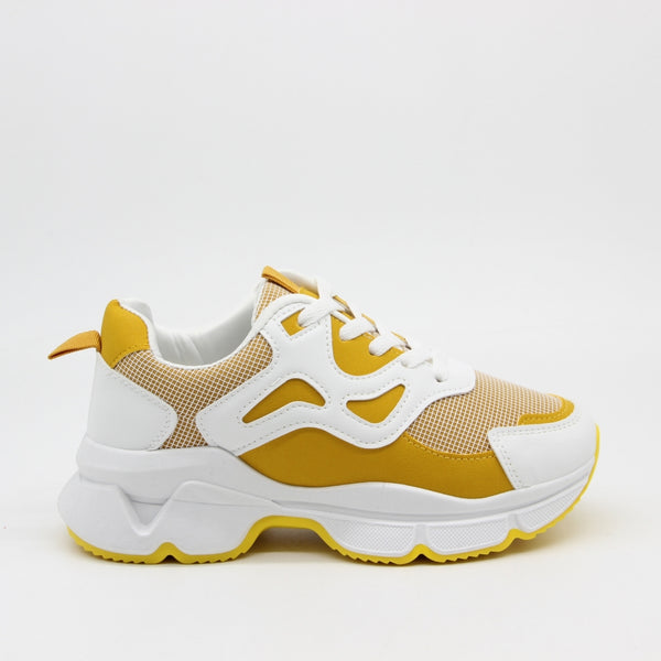 Shoes Dame Sneakers 3182 Shoes Yellow