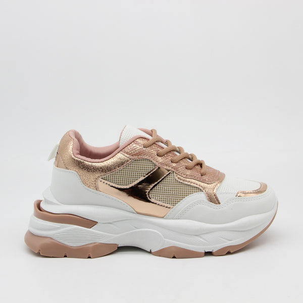 Shoes Dame Sneakers 3188 Shoes Champagne
