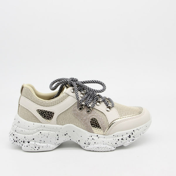 Shoes Dame Sneakers 3189 Shoes Beige